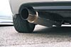 """Ultimate Racing 2.5"""" and 3"""" Single Round Muffler Cat-Back Exhaust (Drive Side Exit): Honda S2000 (00-03), (04+)"""